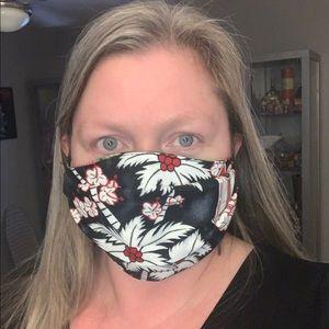 hawaiian print face mask